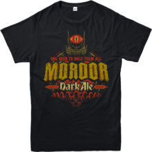 Lord of The Rings T-Shirt,Mordor Dark Ale Spoof,Adult and Kids Sizes Cotton Men T Shirts Classical Top Tee Basic Models(China)