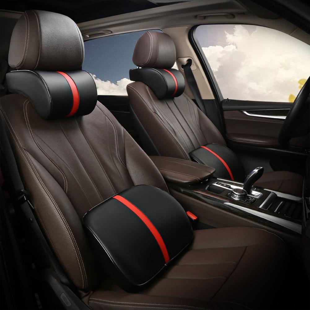 Headrest And Lumbar Support Car Memory Foam Travel Comfortable Neck Headrest Pillow Lumbar Support Cushion  Seat Supports