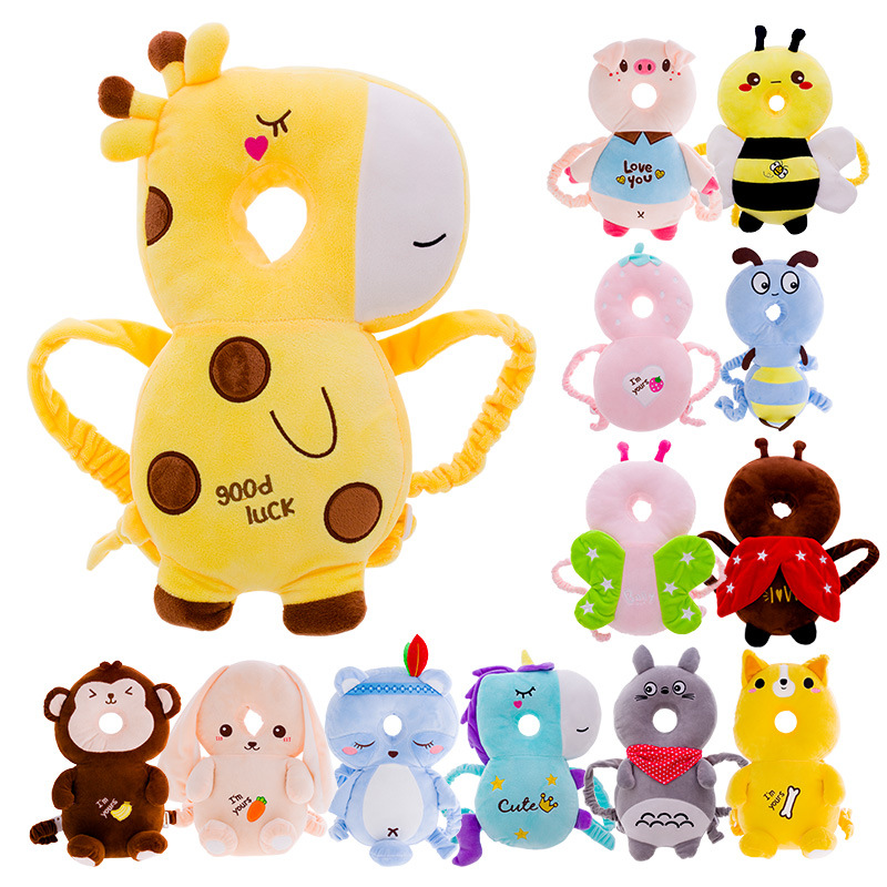 Baby Pillow Head Protection Pad Toddler Headrest Cartoon PP Cotton Sleep Positioner Baby Anti Fall Cushion For Baby Protect