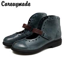 Женские туфли careaymade из натуральной кожи летние новые в