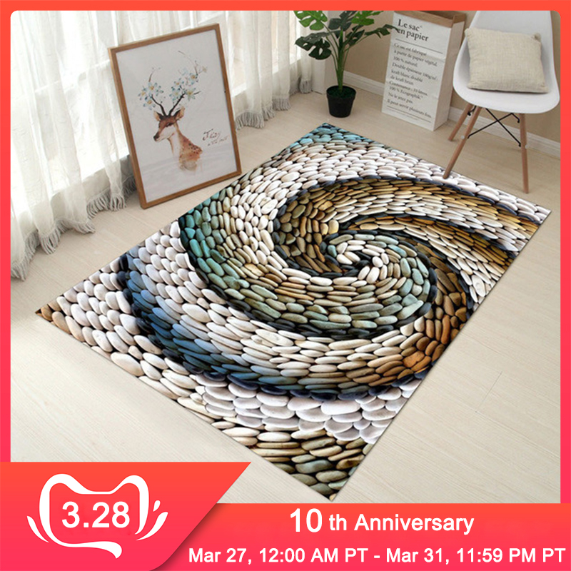 RFWCAK Creative Europe Type 3D Printing Carpet Hallway Doormat Anti-Slip Bathroom Mat Absorb Water Kitchen Carpets Rug Tapete