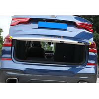Yüksek kalite için BMW X3 Xdrive 25i 28i 30i 2018 2019 2020 araba ABS arka tampon Trim Trunk plaka lamba çerçevesi eşik pedalı Panel