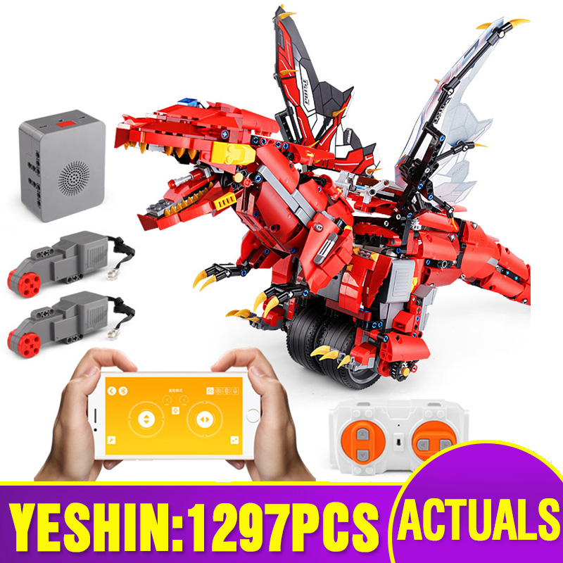 Yeshin App Control Toys With Sound Music Compatible With <font><b>70612</b></font> Mecha Dragon Set Building Blocks Bricks Assembly Kids Toys Gifts image