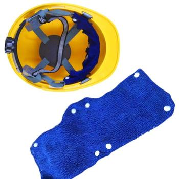 1pc Summer Selling Beat The Heat Blue Snap-on hard hat sweatband sweat belt for Safety helmet inner d90621