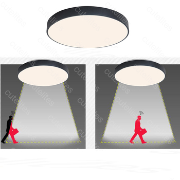 2019 New High Quality Surface Mounted Motion Sensor/Radar Human induction Acrylic led ceiling lights Fixtures  Dropship