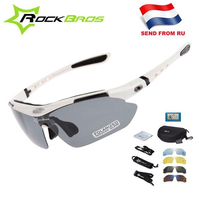 Hot! Rockbros polarizado ciclismo óculos de sol ciclismo ao ar livre esporte da bicicleta estrada mtb tr90 óculos de proteção masculino 5 lente 1