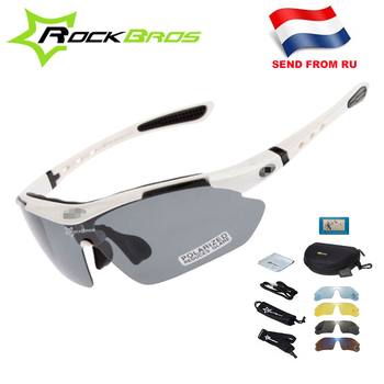 Hot! RockBros Polarized Cycling Glasses Cycling Sunglasses Outdoor Sport Road Bike MTB Men's Glasses TR90 Goggles Eyewear 5 Lens