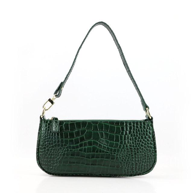New Desginer Bag Women Embossed Crocodile Leather Handbag Fashion Ladies Shoulder Bag Under Arm Leather Bag Purse
