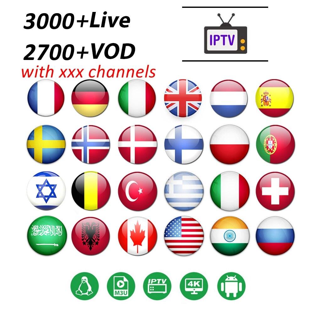 IPTV France Belgium Spain Portugal Greek German Subscription Code For Android TV BOX G1 G2 G3 G5 M3u Smart Tv Italy IP TV M3U