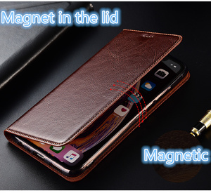 Image 5 - Genuíno couro flip slot para cartão de telefone bag para Samsung Galaxy M30/Samsung Galaxy M20/Samsung Galaxy M10 ultra tampa do telefone fino