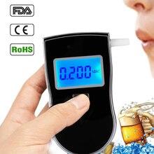 1 шт. Профессиональный полицейский цифровой дыхательный спирт Тестер Алкотестер AT818 Ручной Подсветка цифровой концентрации алкоголя