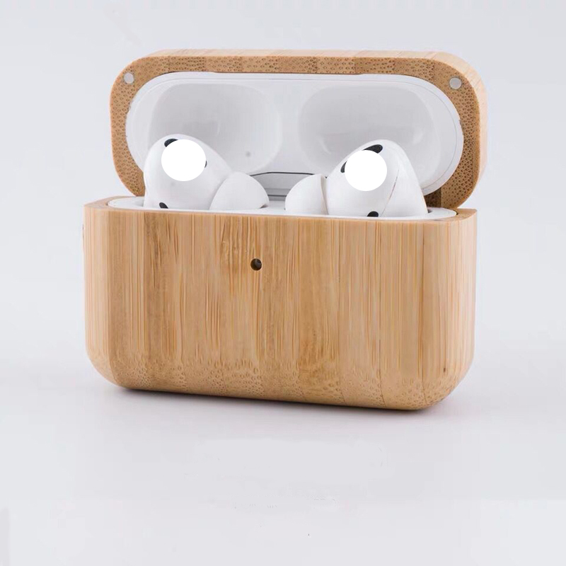 Wireless Earphone Case For Apple Airpods Pro Case wood Headphone Cover Silicone For Air pods Pro 3 Case Earpods Accessory