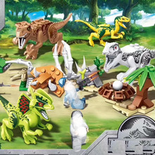 Jurassic Blocks World Forest Dilophosaurus Tyrannosaurus Rex Dinosaur Eggs Figure Bricks Toys For Children B800