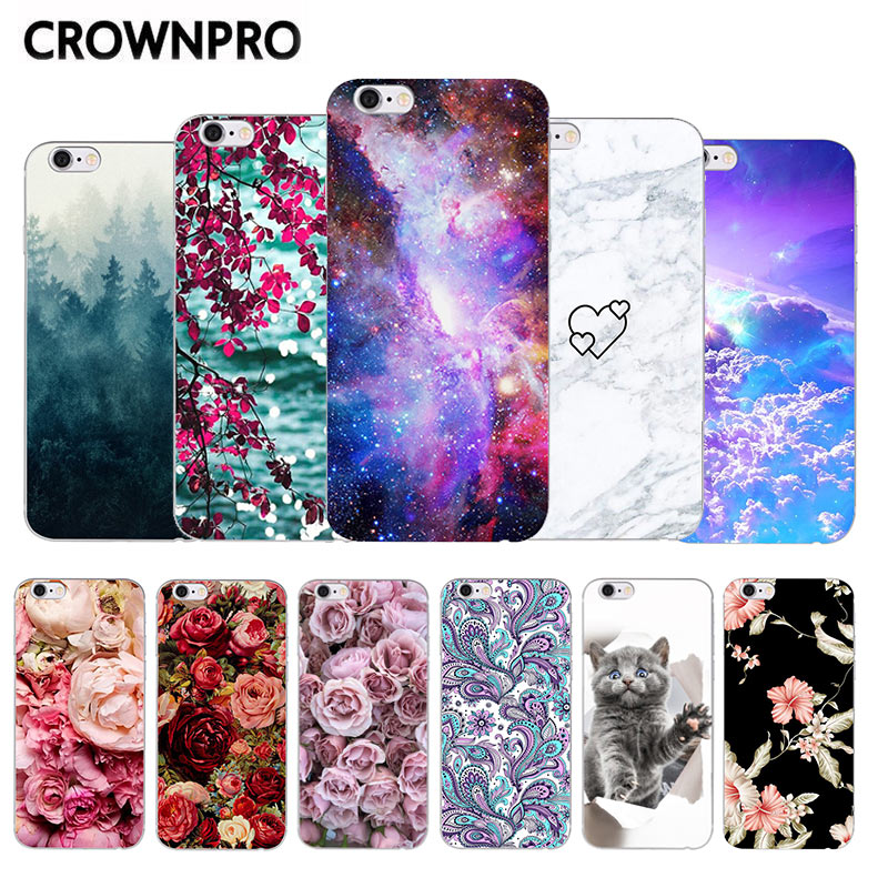 Case For Huawei <font><b>P</b></font> <font><b>Smart</b></font> Enjoy 7S Case Silicone Soft TPU For Huawei PSmart 2018 FIG-LX1 FIG LX1 Back Cover Painting Case <font><b>5.65</b></font>