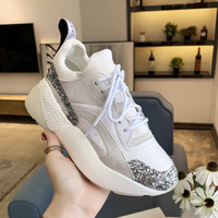 New women's brand quality casual shoes leather thick bottom muffin small white shoes sports casual color matching women's shoes