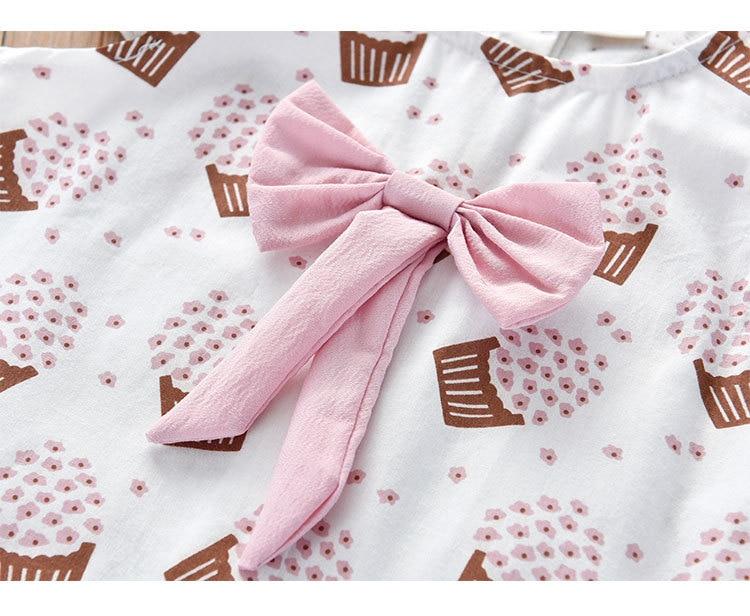 H8a05153f3a3e4aecb51517d34ca2dd24o Humor Bear Girls Clothing Set 2020 Korean Summer New Ice Cream Bow T-shirt+Pants Kids Suit Toddler Baby Children's Clothes