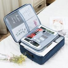 ขนาดใหญ่ความจุกระเป๋าเอกสารมัลติฟังก์ชั่แฟ้มโฟลเดอร์ตั๋วกระเป๋าสำหรับ Home Travel Organizer อุปกรณ์จัดเก็บข้อมูล