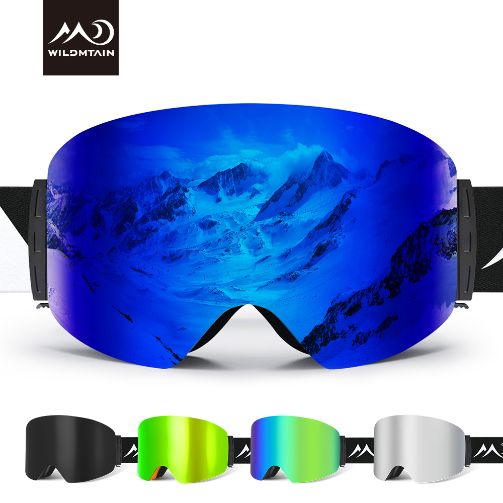 WILDMTAIN Best Ski Goggles Snowboard Dual Layers Anti Fog Skiing Snow Goggles, UV Protection Ski Glasses For Men Women Youth
