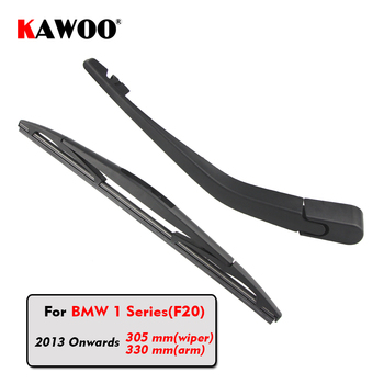 KAWOO Car Rear Wiper Blades Back Window Wipers Arm For BMW 1 Series(F20) Hatchback (2013 Onwards) 305mm Auto Windscreen Blade sliverysea rear windscreen wiper and arm for honda airwave 2009 onwards 14 5 door wagon high quality iso9000 natural rubber