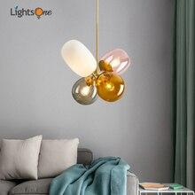 Nordic creative stained glass restaurant chandelier modern minimalist personality girl bedroom balloon children's room lamp