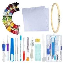 Русский ящик для инструментов для вышивания ручной Diy Poke Music аксессуары набор для шитья 50 цветов ящик для инструментов для вышивания набор с бабочкой