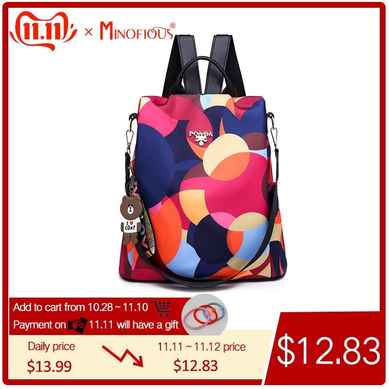 Waterproof Oxford Women Backpack Fashion Anti-theft Women Backpacks High Quality Ladies Large Capacity Backpack Print School Bag