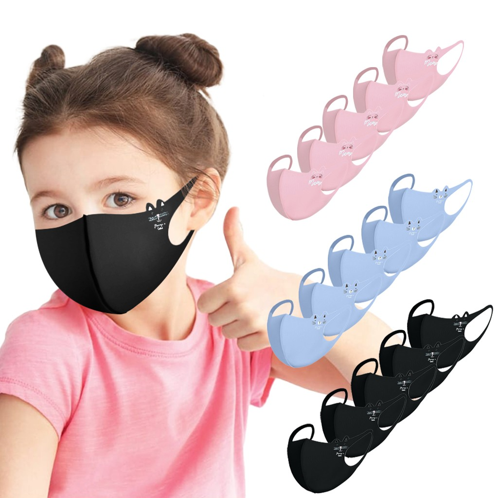 15 Pack Face Covering Children's Mask Kids Reusable Cartoon Print Breathable Protection Stretch Mask mondkapjes wasbaar