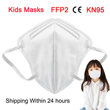 Masks FILTER Mascarillas Protective Ffp2 Kn95 Breathable Kids Children's 5-Layers 3-15-Years
