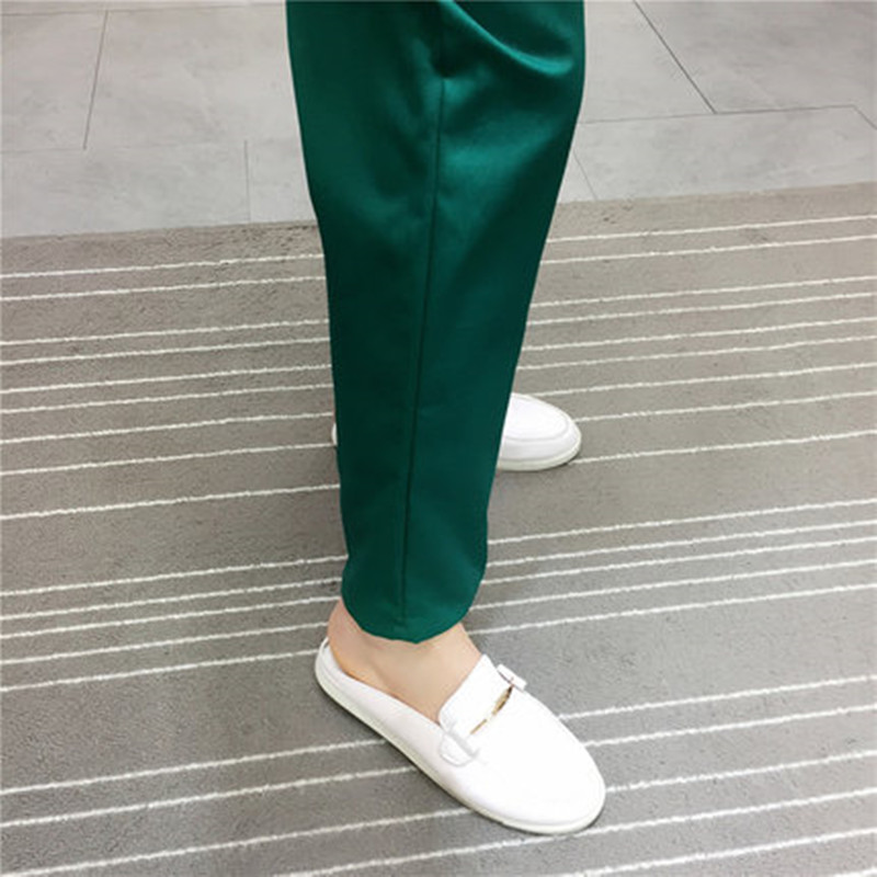 Dark Green Hand Washing Trousers Cotton Elastic Waistband Waist Trim Doctor's Working Pants Doctor's Pants