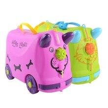 Модный чемодан для путешествий, коляска, многоцветная, животное, модельный костюм, чехол s, детский Жесткий Чехол, костюм, чехол, белый, зеленый, Детская коробка для хранения
