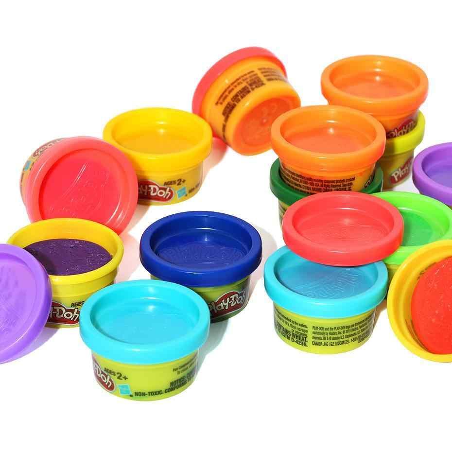 الأصلي هاسبرو اللعب Doh اللعب الوحل قوس قزح اللون البلاستيسين لعبة للأطفال طفل هدية عيد ميلاد لتقوم بها بنفسك البلاستيسين اللعب