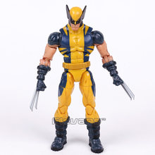 Original x-men logan wolverine pvc figura de ação collectible modelo brinquedo