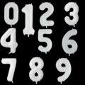 40 дюймов большой белый черный номер воздушные шары из фольги, для детей 0, 1, 2, 3, 4, 5, 6, 7, 8, 9, шары на день рождения вечерние украшения свадебные ...