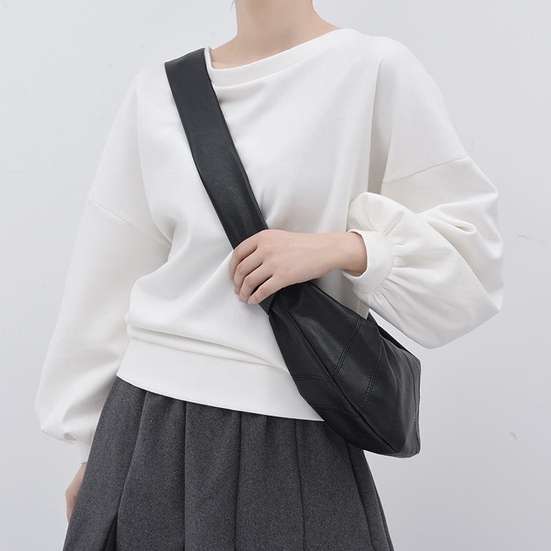 [EAM] Loose Fit White Back Bow Split Joint Sweatshirt New Round Neck Long Sleeve Women Big Size Fashion Tide Spring 2020 JE14100 3