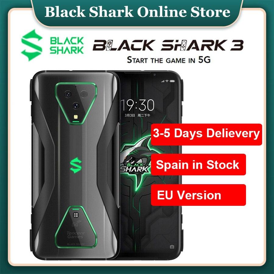 "Spain Warehouse EU Version 5G Gaming Mobile phone Xiaomi Black Shark 3 6.67"" 8GB RAM 128GB ROM Snapdragon 865 Octa Core Phones"