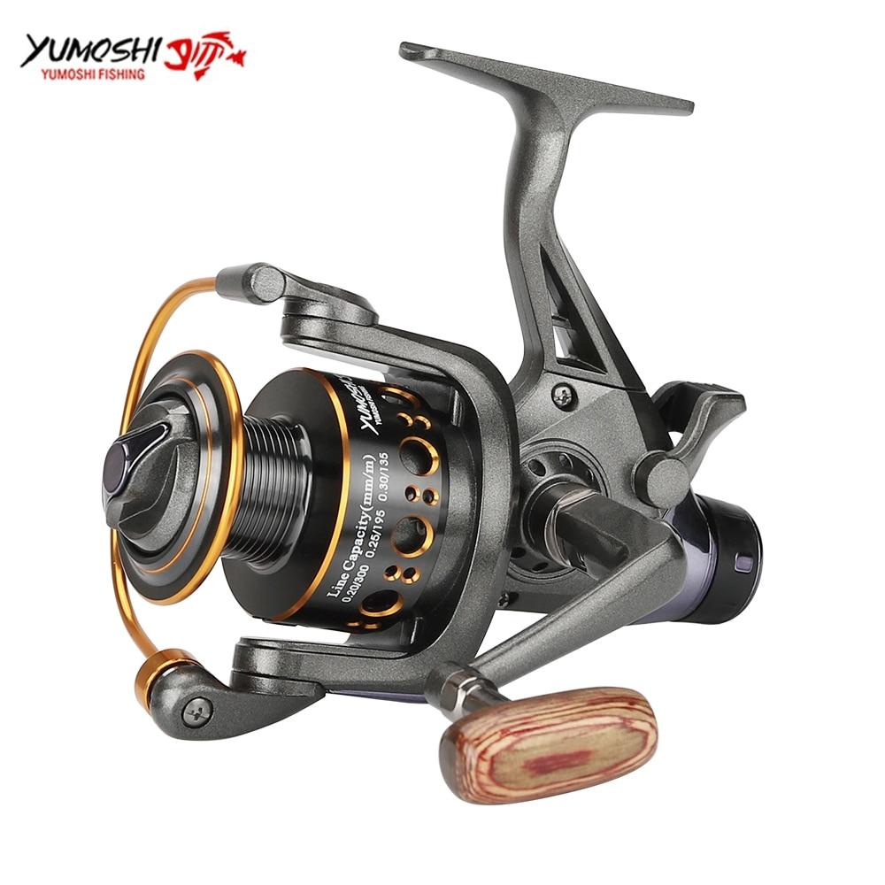 Double Brake Fishing Reel Spnning Brake Wheel Max Drag 18KG Freshwater For Carp Fishing Metal Spool Spinning Reel|Fishing Reels| |  - title=