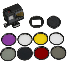 RuigPro 8 in 1 58mm Filters for GoPro Hero 7 6 5 Black Waterproof Case UV CPL Red Purple Filter Go Pro Accessory Set