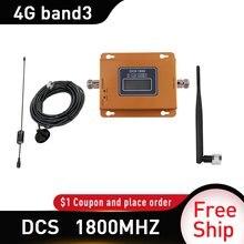 Amplificateur de signal DCS bande 3 4g lte, répéteur 1800mhz, gsm, 1800mhz, avec câble de 10m