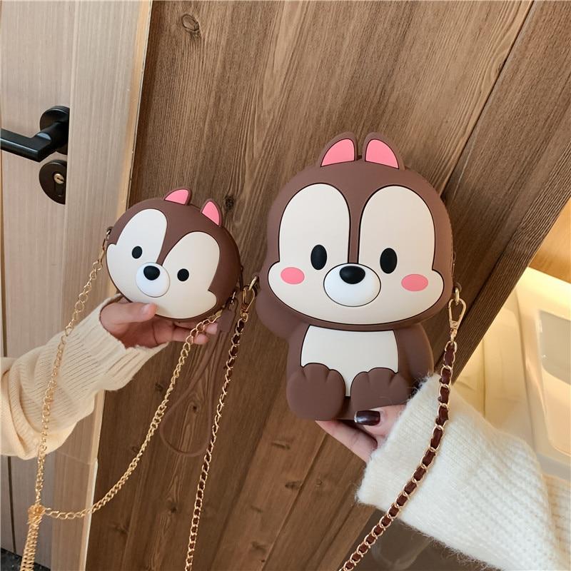 Funny Cute Cartoon Luxury Handbags Women Bags Designer Princess Soft Silica Gel Shoulder Bags Fashion Zipper Purses And Handbags