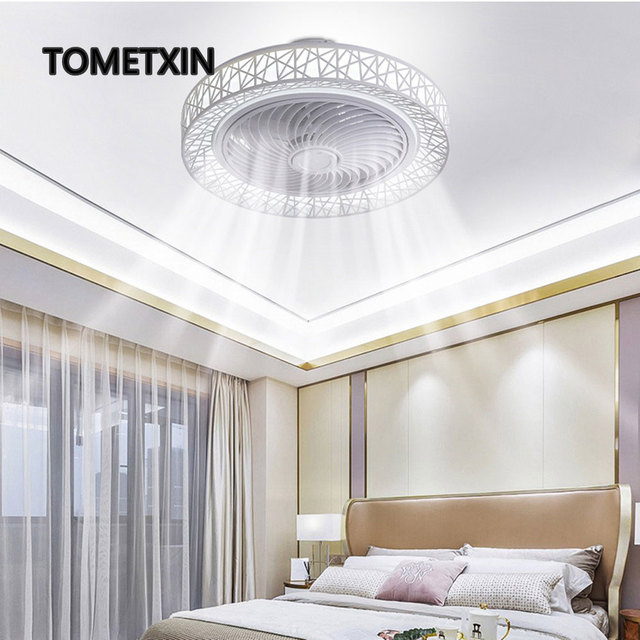 50cm smart led ceiling fan fans with lights remote control bedroom decor ventilator lamp air Invisible WiFi Bluetooth Silent