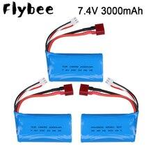 7.4V lipo Battery 18650 3000MAH and 7.4v charger set  for Q46 Wltoys 10428 12428 12429 12423 A969-B RC Car Parts 7.4 V 3000 mah