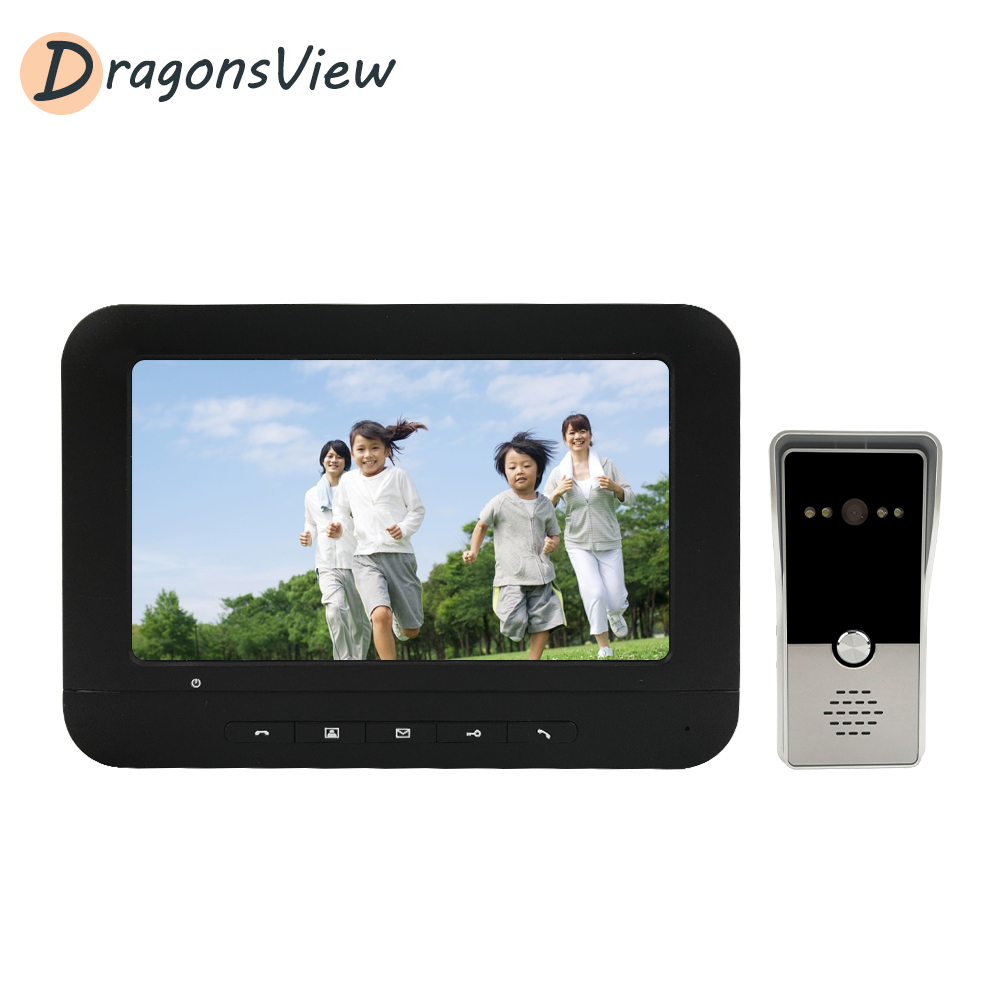 Dragonsview 7 Inch Video Intercom 1000TVL Wired Video Door Phone Doorbell Camera For Home Security Support Electric Lock Connect