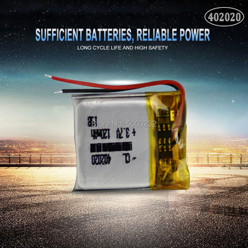 1pc 3.7v 120mAh 402020 Lithium Polymer Rechargeable Battery For toys GPS MP3 MP4 PAD DVD DIY bluetooth headphone speaker phone image
