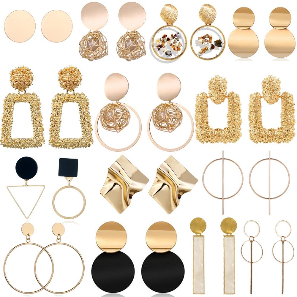 Big Drop Earrings for Women Geometric Statement Earrings female 2020 Fashion Modern Jewelry hanging kolczyki oorbellen