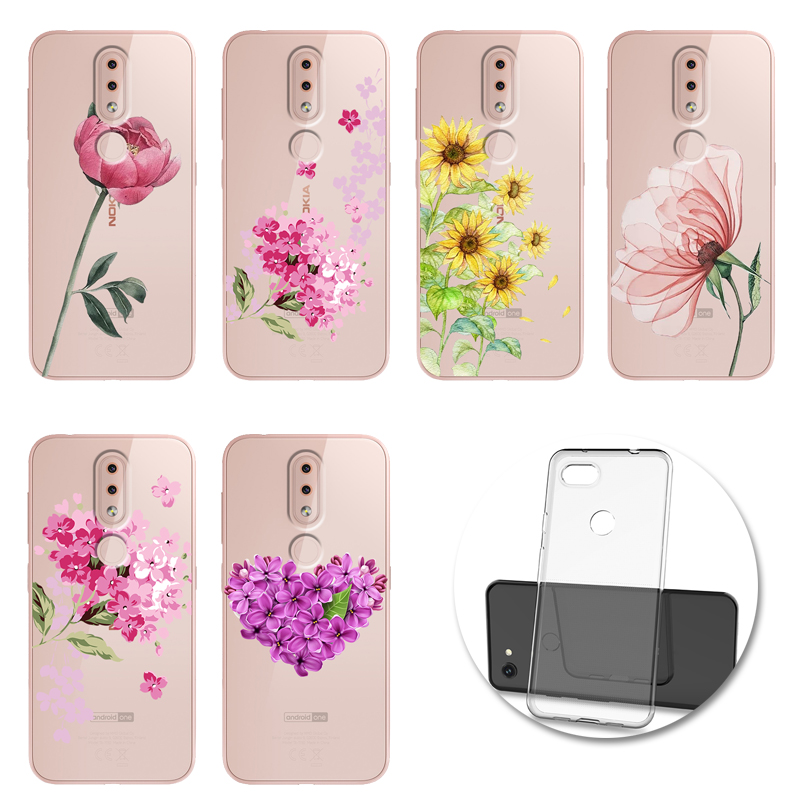 Relief Flower <font><b>Case</b></font> Soft <font><b>Silicone</b></font> Cover For <font><b>Nokia</b></font> 2.2 3.1 3.2 4.2 6.2 7.2 X71 1 <font><b>8.1</b></font> Plus 9 PureView Funda image