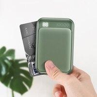 Rocha 18 w tipo c pd qc3.0 banco de potência 10000mah mini bateria externa display led usb rápido carregamento powerbank para iphone 11