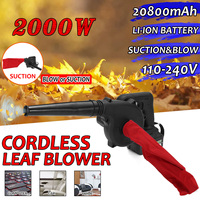 110 240V Cordless Electric Air Blower Handheld Leaf Blower & Suction 20800mAh Lithium Battery Computer dust collector cleaner