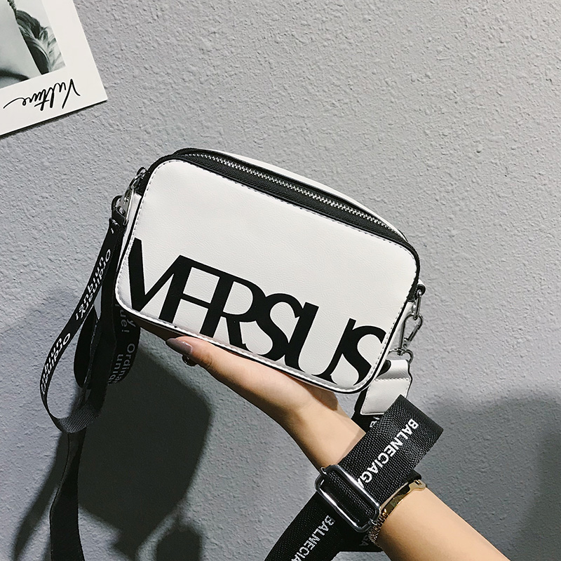 Louis Brand Women 2019 Leather Bag New Shoulder Fashion Small Crossbody Bags Wide Shoulder Strap Handbag Letter Square Package