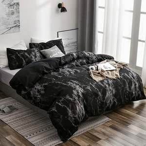 Image 4 - Frigg プリント大理石寝具セット白黒布団カバー王クイーンサイズのキルトカバー簡単な寝具布団カバー 3 個 2 個
