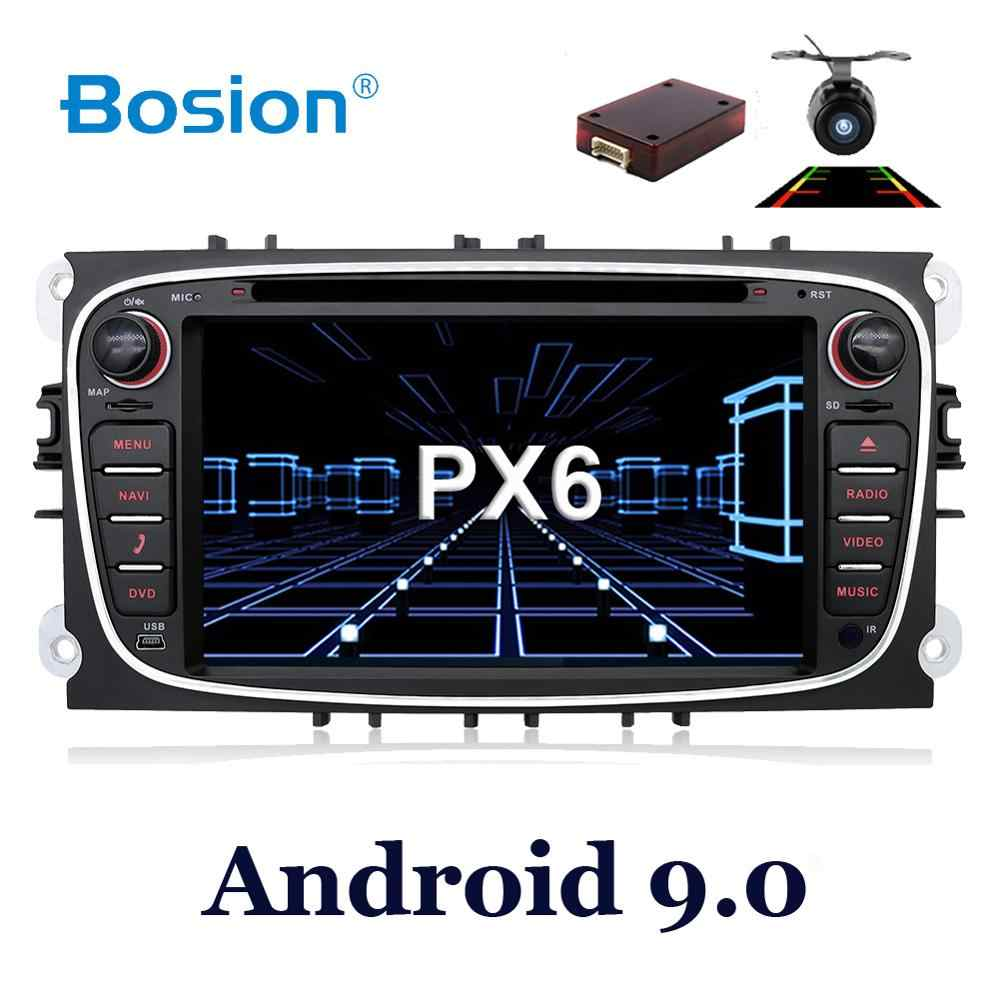 4G + 64G Android 9,0 dvd del coche para Ford Mondeo focus S-max smax Kuga c-max gps inteligente radio video wifi BT SWC reproductor multimedia